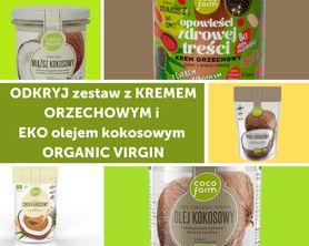 Zestaw do naleśników z kremem orzechowym i  EKO olejem kokosowym ORGANIC VIRGIN