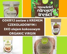Zestaw do naleśników z kremem czekoladowym i EKO olejem kokosowym ORGANIC VIRGIN