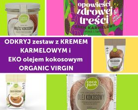 Zestaw do naleśników z kremem karmelowym i EKO olejem kokosowym ORGANIC VIRGIN