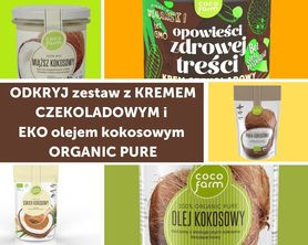 Zestaw do naleśników z kremem czekoladowym i EKO olejem kokosowym ORGANIC PURE