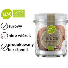 Ekologiczny olej kokosowy 100% organic virgin BIO Coco Farm
