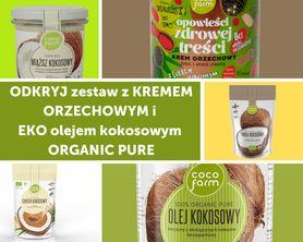 Zestaw do naleśników z kremem orzechowym i  EKO olejem kokosowym ORGANIC PURE