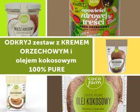 Zestaw do naleśników z kremem orzechowym i  olejem kokosowym 100% PURE