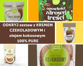 Zestaw do naleśników z kremem czekoladowym i olejem kokosowym 100% PURE